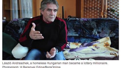 News video: Homeless Man in Hungary Wins $2.8 Million in Lottery